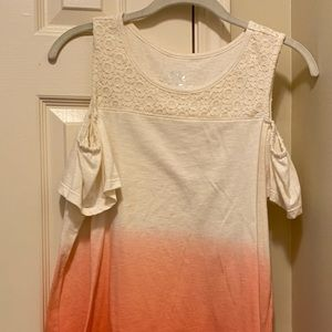 Faded Glory cold shoulder girls top